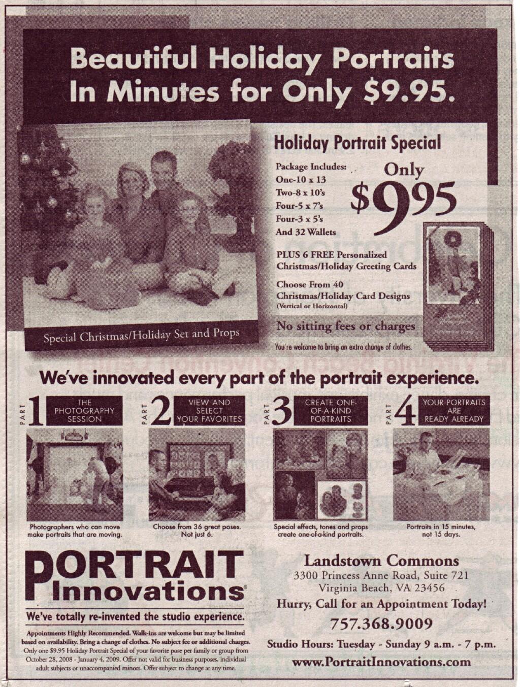 Holiday Portrait Specials: Pro Digital Talk Forum: Digital